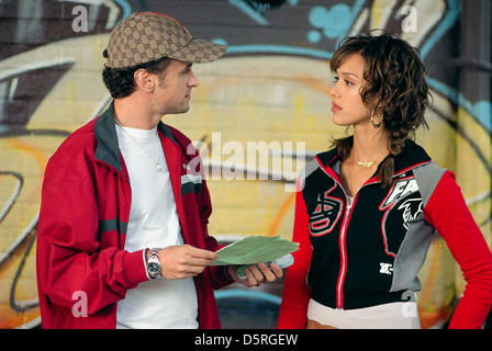 DAVID MOSCOW & JESSICA ALBA HONEY (2003) - Stock Photo