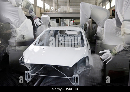 Ford Fiesta Production On The Assembly Line Cologne Plant
