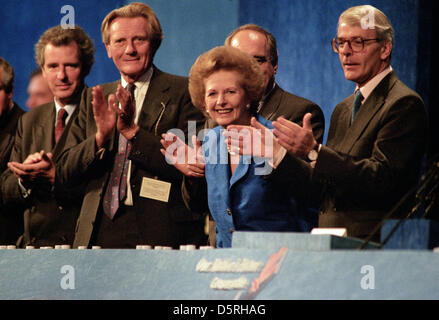Prime Minister Margaret Thatcher at Conservative Party Conference Blackpool, England, 1985 Michael Heseltine,and - Stock Photo