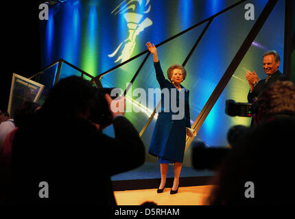 MARGARET THATCHER BARONESS PHOTOGRAPH BY BRIAN HARRIS-COPYRIGHT-22/5/01 'THE RETURN OF THE MUMMY'...THATCHERS OWN - Stock Photo