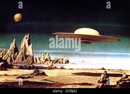FLYING SAUCER FORBIDDEN PLANET (1956) - Stock Photo