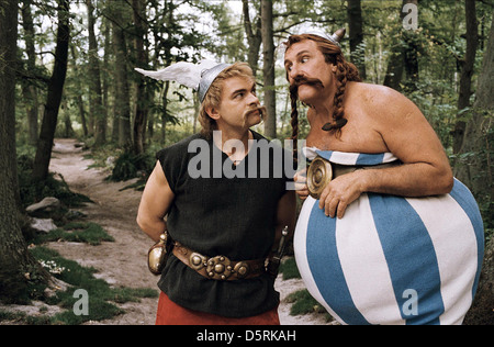 CLOVIS CORNILLAC & GERARD DEPARDIEU ASTERIX AT THE OLYMPIC GAMES (2008) - Stock Photo
