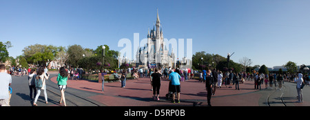 Cinderella's Castle, Magic Kingdom, Disney World - Stock Photo