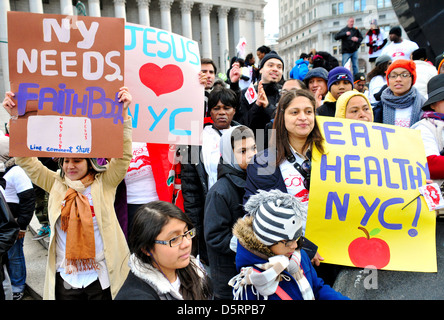 "City Hall area during the annual Anti-Violence ""Compassion"" rally... - Stock Photo"