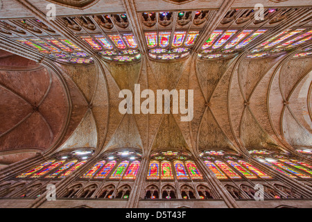 The roof of the nave in Saint Denis basilica, Paris. - Stock Photo