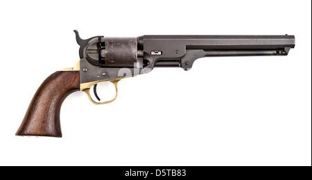 American Colt 1851 Navy Revolver - Stock Photo