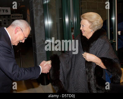 Queen Beatrix of The Netherlands attends a concert offered by President Gasparovic of Slovakia at the Louwman museum - Stock Photo