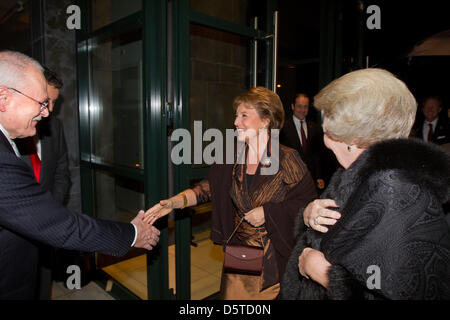 Queen Beatrix of The Netherlands and Princess Margriet attend a concert offered by President Gasparovic of Slovakia - Stock Photo