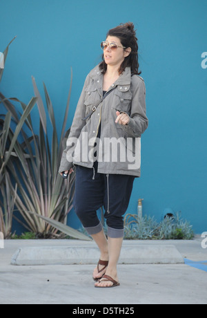 Marisa Tomei leaving Yoga class in West Hollywood Los Angeles, California - 13.03.12 - Stock Photo
