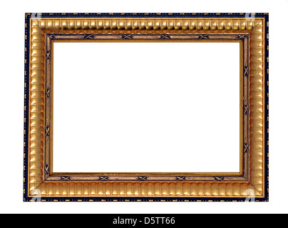 A gold and black decorative frame isolated on white. - Stock Photo