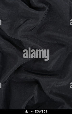 Black satin fabric. Abstract background. - Stock Photo