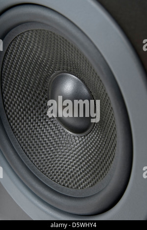 Closeup of a professional loud speaker. - Stock Photo