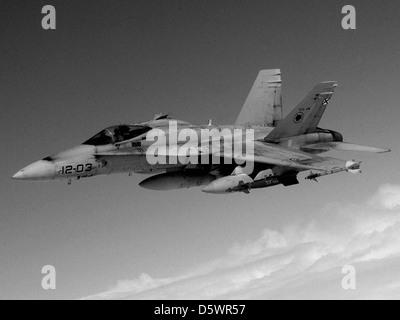 Spanish Air Force McDonnell Douglas EF-18A 'Hornet' of Ala 12, or 12 Squadron, Torrejon AB, Spain. - Stock Photo
