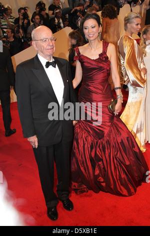 Rupert Murdoch, Wendy Murdoch Alexander McQueen: 'Savage Beauty' Costume Institute Gala at The Metropolitan Museum of Art New