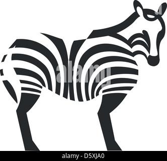 Zebra black silhouette 01