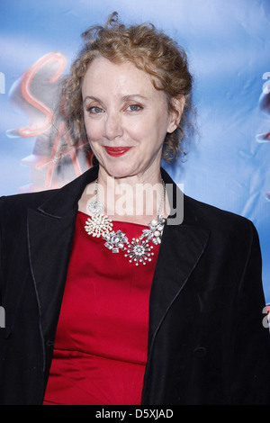 J. Smith-Cameron Opening night of the Broadway musical production of 'Sister Act' at the Broadway Theatre - Arrivals - Stock Photo