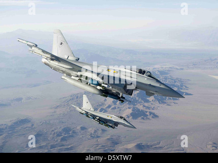 RAF No 11 Squadron Eurofighter 'Typhoons' at Green Flag, USA. The Typhoon is loaded with enhanced paveway 2 bombs, - Stock Photo