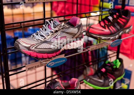 New running shoes on display - Stock Photo