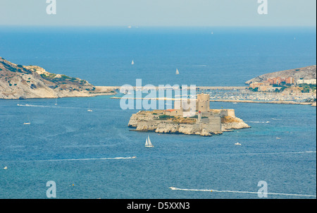the chateau d'if, marseille, france - Stock Photo