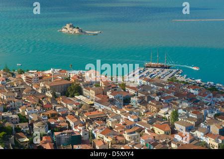 bourtzi castle, nafplion, greece - Stock Photo