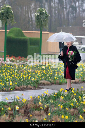 Dutch Queen Beatrix opens the Floriade 2012 in Venlo, The Netherlands, 04 April 2012. The Floriade is an World Horticultural - Stock Photo