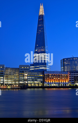 Shard at Dusk, London Bridge Quarter, London, United Kingdom - Stock Photo