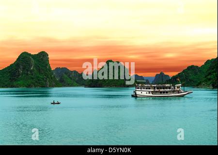 Cat Hai in Halong Bay. North Vietnam. - Stock Photo