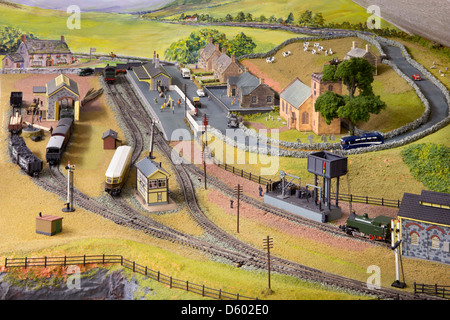 'N' gauge Model Railway - Stock Photo