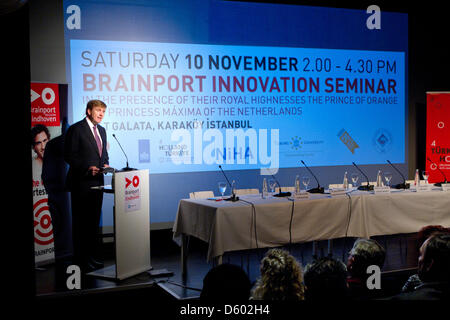 Crown Prince Willem-Alexander hold an speech at the Brainport Innovation and Career Seminar in Istanbul, Turkey, - Stock Photo