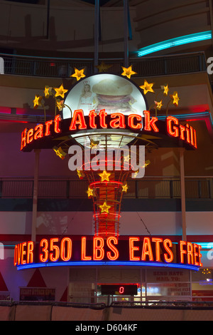 ... The Heart Attack Grill On Fremont Street In Downtown Las Vegas   Stock  Photo