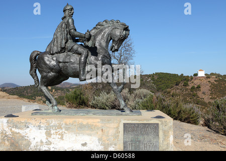 Statue of Ibn Qasi in Mertola, Portugal. - Stock Photo