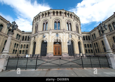 Norwegian parliament Storting Oslo - Stock Photo