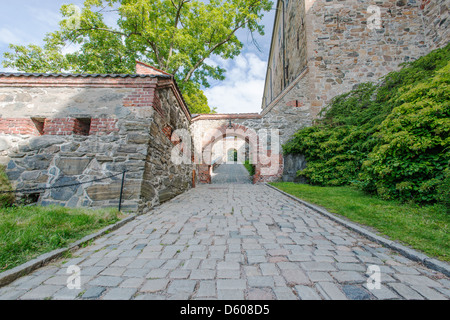 View on Akershus Fortress in Oslo - Stock Photo