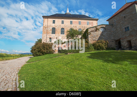View on Akershus Fortress Oslo - Stock Photo