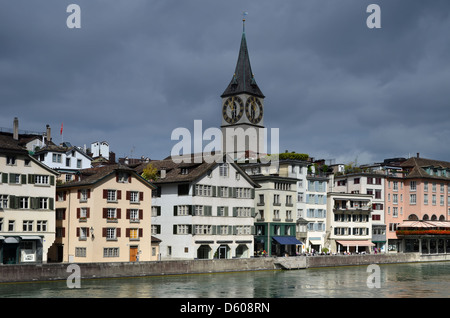 Zurich in Switzerland, medieval city - Stock Photo