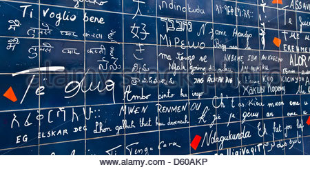 I love you in 311 languages - Stock Photo
