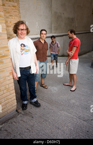 Cud, English indie band photographed in Old Street , London, England. - Stock Photo