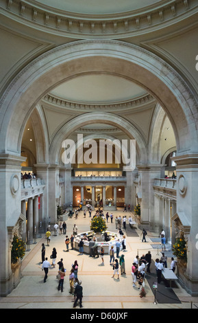 The Great Hall, Metropolitan Museum of Art, New York City, New York, USA - Stock Photo