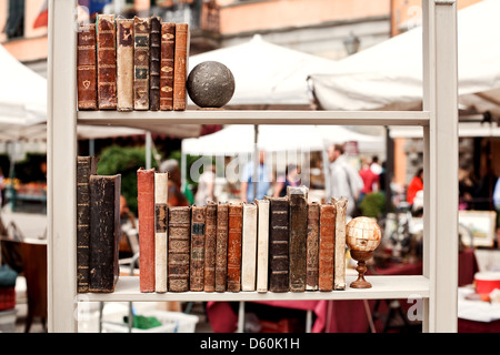 Antiquarian books on a regiment - Stock Photo