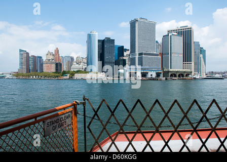 Lower Manhattan Skyline without the former World Trade Center, New York City - Stock Photo