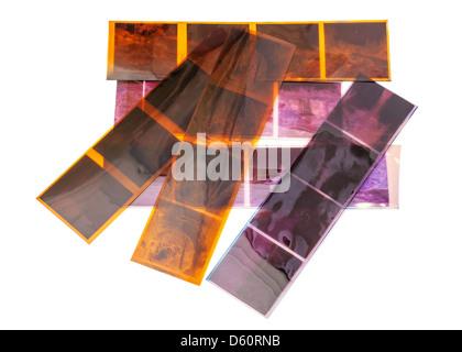 Old Negative Film - Stock Photo