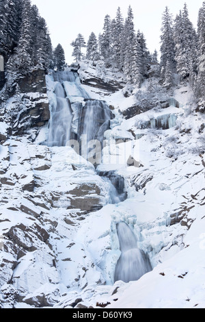 Austria. The Krimml waterfalls in the National Park Hohe Tauern. - Stock Photo