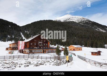 Southern Tyrol. Austria.  The Krimmler Tauernhaus in the valley of the Krimmler Ache, National Park Hohe Tauern, - Stock Photo