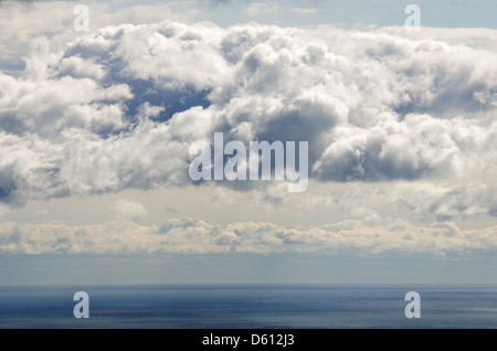 Clouds massing over Frenchmans Bay, Maine - Stock Photo