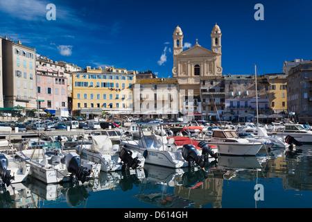 France, Corsica, Haute-Corse Department, Le Cap Corse, Bastia, The Old Port - Stock Photo