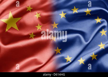 China and European Union - Stock Photo