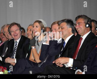 Dutch Princess Maxima (L-R), Prince Willem-Alexander, the Turkish President Abdullah Gul and Deputy Prime Minister - Stock Photo