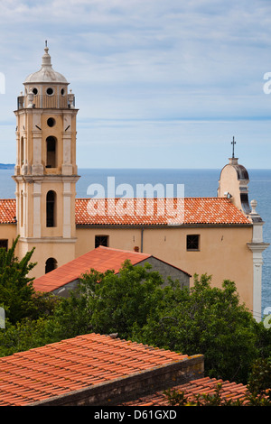 France, Corsica, Cargese, Eglise Latine Ste-Marie, Latin church, exterior - Stock Photo