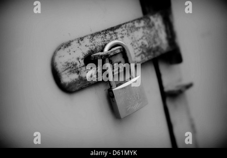 ... A padlocked door - Stock Photo & padlock clasp secure door lock Stock Photo Royalty Free Image ... Pezcame.Com