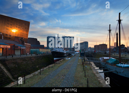 Salthouse Dock, designed by Thomas Steers and opened in 1753; part of the Maritime Museum in the Albert Dock Complex, - Stock Photo